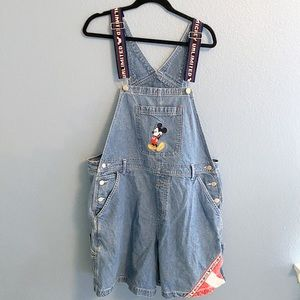 Vintage Mickey Mouse Denim Overalls